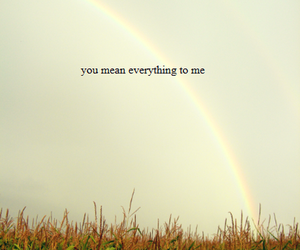 text, rainbow, and love image