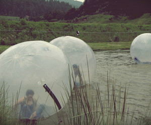 bubbles, water, and people image