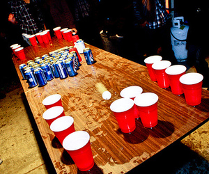 beer pong, beer, and party image