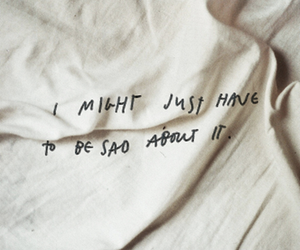 sad, quote, and bed image