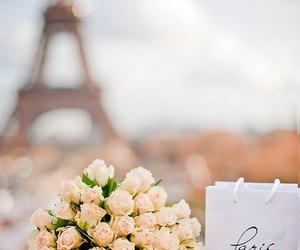 paris, flowers, and rose image