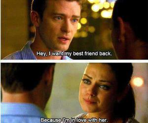 love, friends with benefits, and justin timberlake image