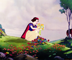 disney, snow white, and flowers image