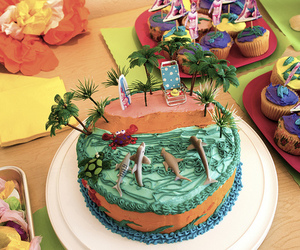 cake, food, and beach image