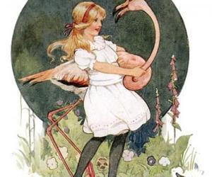 alice, alice in wonderland, and croquet image
