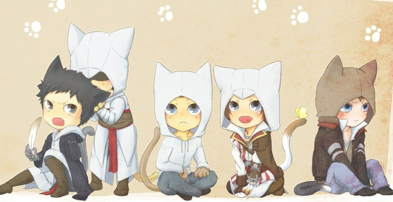 Assassin S Creed Chibi Nekomimis Cuties I Like Nekomimis Anime