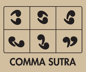 comma, letters, and funny image