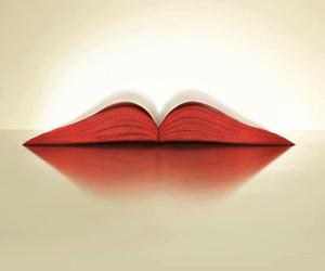 book, lips, and red image