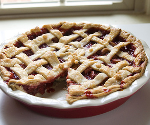food, pie, and cherry image