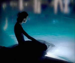 girl, dress, and water image
