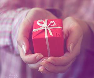 gift, present, and girl image