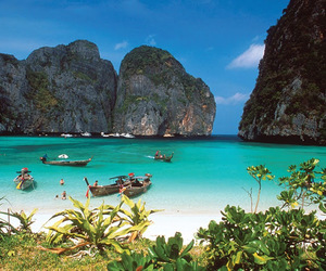 beach, thailand, and sea image