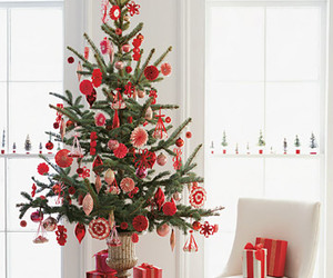 christmas, christmas tree, and red image