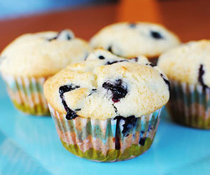 colors, muffins, and sweet image