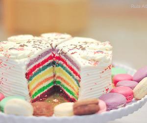 cake, rainbow, and cute image