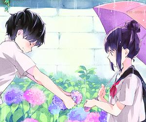anime, love, and rain image