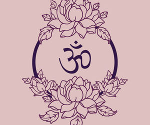 om and lotus image