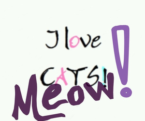 <3, cat, and cats image