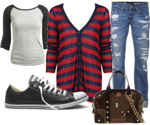 grunge, look, and Polyvore image