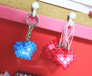 beads, blue, and diy image