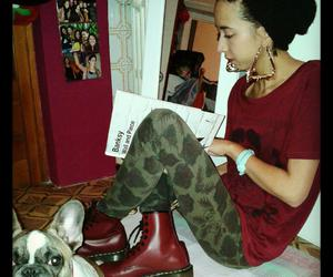 dog, dr.martens, and earrings image