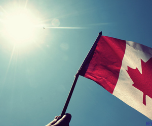canada, flag, and sun image