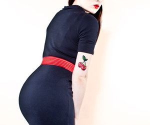 booty, pinup, and cherries image