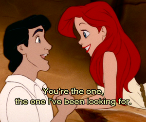 couple, little mermaid, and typography image