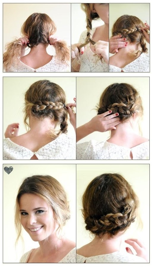 Hair Easy Braided Up Do Hairstyle Hairstyles Tutorial
