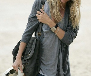 bag, beach, and blonde image