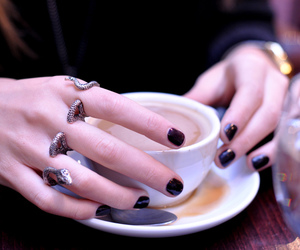 coffee, ring, and snake image