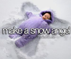 angel, make, and snow image