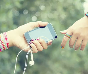 ipod, music, and iphone image
