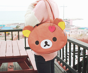 kawaii, rilakkuma, and bag image