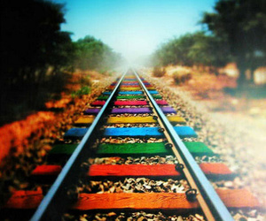 colors, photography, and rainbow image