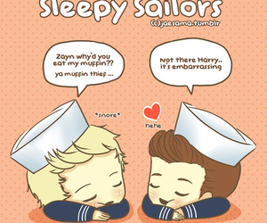 one direction, cartoon, and 1d image