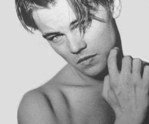leonardo dicaprio, boy, and black and white image