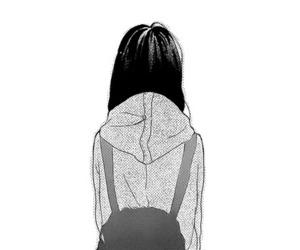 girl, manga, and alone image