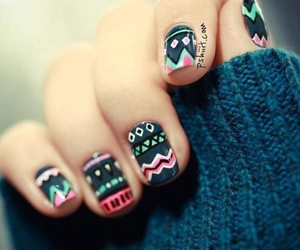 black, colours, and manicure image