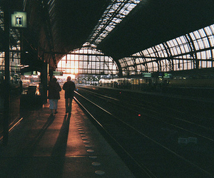 train, station, and vintage image