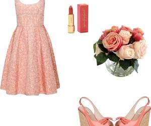 dress, fashion, and lipstick image