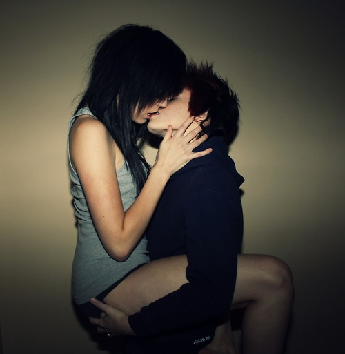Tomboy And Girlfriend Kissing