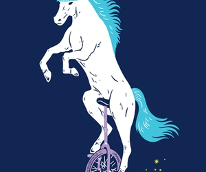 unicorn, unibrow, and unicycle image