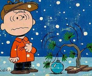 charlie brown, christmas, and christmas tree image