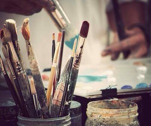 art, paint, and Brushes image