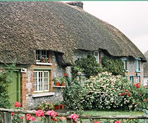 ireland and old thatched cottage image