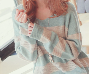 girl, cute, and sweater image