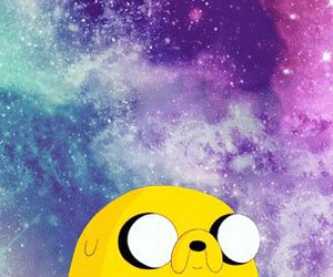JAKe, adventure time, and galaxy image