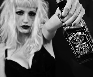 blonde, girl, and jack daniels image