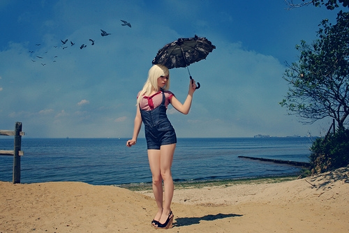 beach, fashion, and pinup image
